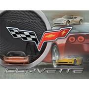 Holland Bar Stool Corvette C6 Graphic Art on Canvas