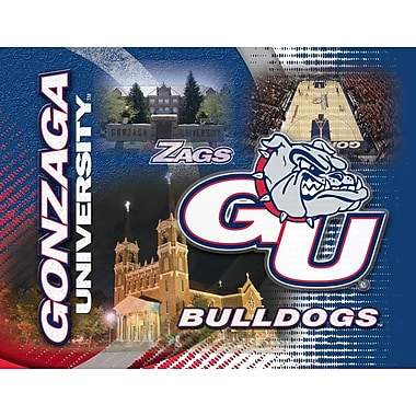 Holland Bar Stool NCAA Graphic Art on Canvas; Gonzaga