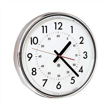 Peter Pepper 16'' Wall Clock; Polished Chrome