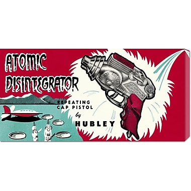 Global Gallery 'Atomic Disintegrator' by Retrogun Vintage Advertisement on Wrapped Canvas