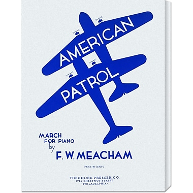 Global Gallery 'American Patrol' by Retro Travel Vintage Advertisement on Wrapped Canvas