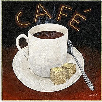 iCanvas ''Cup of Coffee'' by Pablo Esteban Graphic Art on Canvas; 37'' H x 37'' W x 1.5'' D