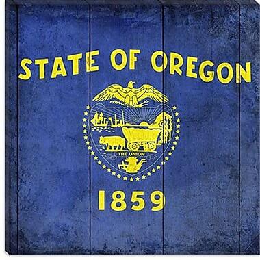 iCanvas Oregon Flag, Planks Graphic Art on Canvas; 37'' H x 37'' W x 0.75'' D