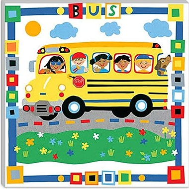iCanvas ''Bus'' by Cheryl Piperberg Painting Print on Canvas; 26'' H x 26'' W x 1.5'' D