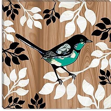iCanvas ''Bird Patchwork II'' by Erin Clark Graphic Art on Canvas; 26'' H x 26'' W x 1.5'' D