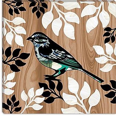 iCanvas ''Bird Patchwork I'' by Erin Clark Graphic Art on Canvas; 12'' H x 12'' W x 1.5'' D