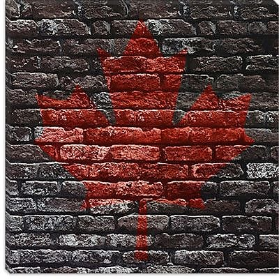 iCanvas Canadian Flag, Maple Leaf #11 Graphic Art on Canvas; 37'' H x 37'' W x 1.5'' D