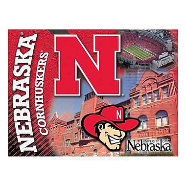 Holland Bar Stool NCAA Graphic Art on Canvas; Nebraska