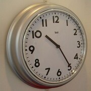 Bai Design 12.7'' School Wall Clock; Silver