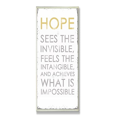 Stupell Industries Hope Sees Inspirational Textual Art Wall Plaque