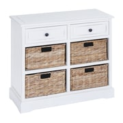 Woodland Imports Basket 2 Drawer 4 Basket Cabinet
