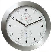 Bai Design 11'' Weather Master Weather Station Modern Wall Clock; White