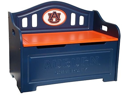 Fan Creations NCAA Storage Entryway Bench; Auburn