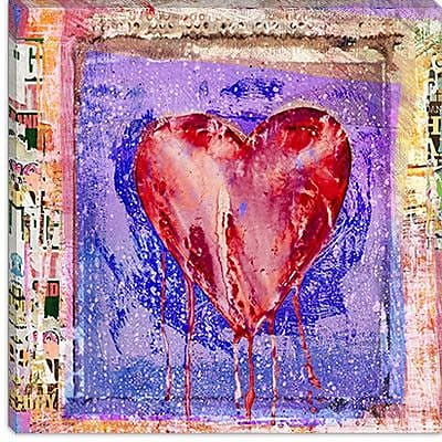 iCanvas ''Bleeding Heart'' by Luz Graphics Graphic Art on Canvas; 18'' H x 18'' W x 1.5'' D