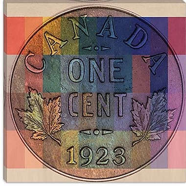 iCanvas Canada One Cent #1 Graphic Art on Canvas; 26'' H x 26'' W x 1.5'' D