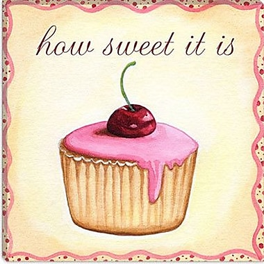 iCanvas 'Cherry Cupcake' by Jennifer Nilson Graphic Art on Canvas; 12'' H x 12'' W x 0.75'' D