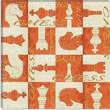 iCanvas 'Checkmate' by Maria Trad Graphic Art on Canvas; 12'' H x 12'' W x 1.5'' D