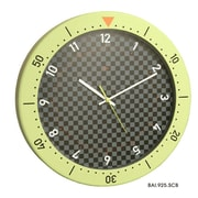Bai Design 14.5'' Speedmaster Wall Clock; Chartreuse and Black