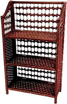 Oriental Furniture Rattan Standard Bookcase