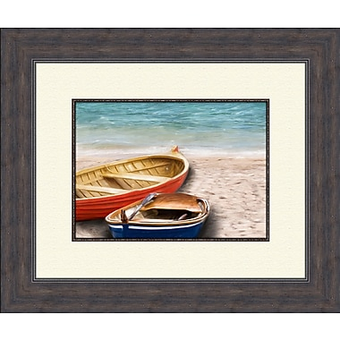 PTM Images Boats A Framed Painting Print
