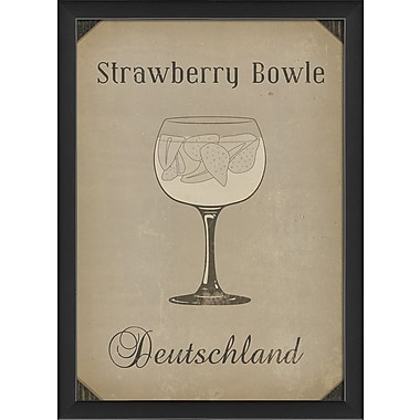 The Artwork Factory Strawberry Bowle Framed Vintage Advertisement
