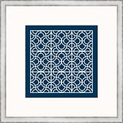 Melissa Van Hise Geometric 2 Framed Graphic Art; Navy
