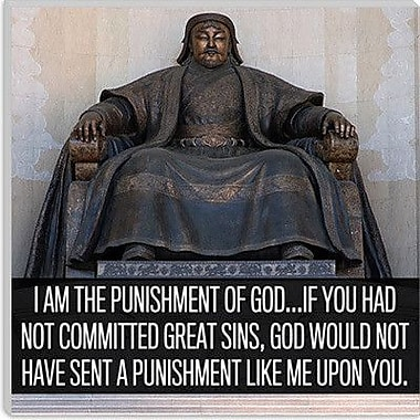 iCanvas Genghis Khan Quote Canvas Wall Art; 12'' H x 12'' W x 1.5'' D