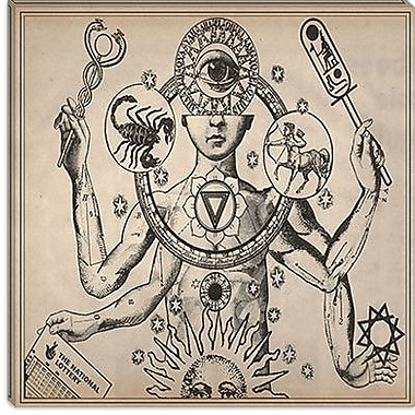 iCanvas Esoteric Figure Drawing Graphic Art on Canvas; 37'' H x 37'' W x 0.75'' D