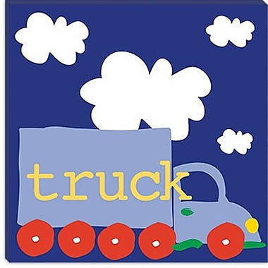 iCanvas ''Blue Truck'' by Erin Clark Graphic Art on Canvas; 12'' H x 12'' W x 1.5'' D