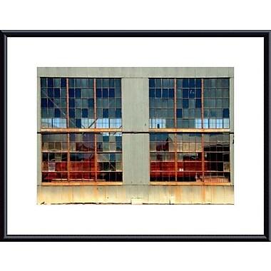Printfinders Window Panes by John K. Nakata Framed Photographic Print; Black