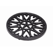 Minuteman 7'' Cast Iron Trivet Sunburst; Black