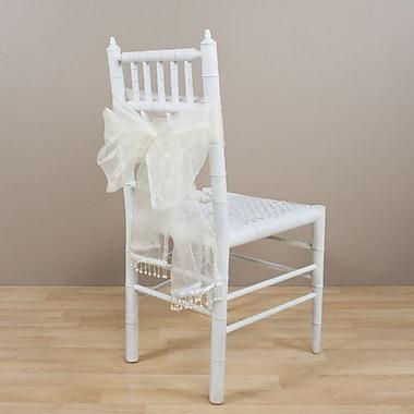 Saro Crushed Tissue Garland; Off-White