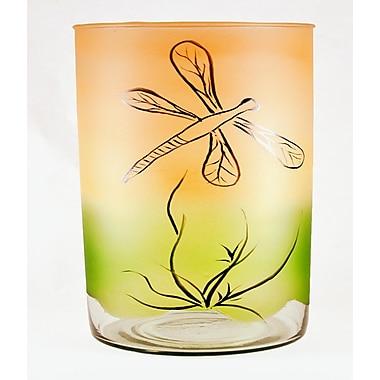 Womar Glass Dragon Fly Vase; 6.25'' H x 6.25'' W x 6'' D