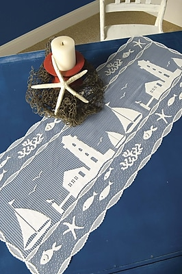 Heritage Lace Harbor Lights Table Runner; 36'' W x 14'' D