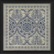The Artwork Factory Tile 9 Framed Graphic Art; Blue