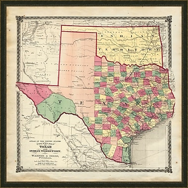 Melissa Van Hise Texas Framed Graphic Art