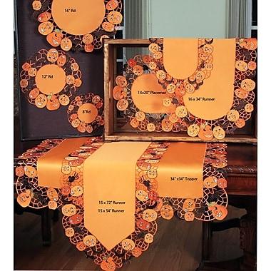 Xia Home Fashions Happy Jack-O-Lanterns Table Topper