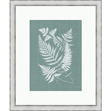 Melissa Van Hise Bucklen Framed Graphic Art; Spa Blue