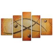 My Art Outlet Orbs Jump Rope 5 Piece Painting on Canvas Set