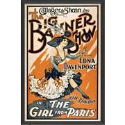 The Artwork Factory The Big Banner Show Framed Vintage Advertisement