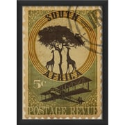 The Artwork Factory South Africa Postage Stamp Framed Graphic Art