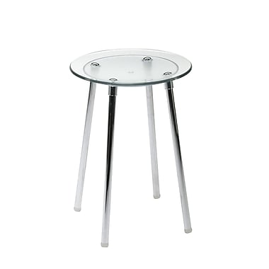 WS Bath Collections Complements Noni Bathroom Stool; Transparent