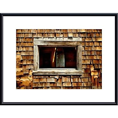 Printfinders Shingle Siding and Window by John K. Nakata Framed Photographic Print; Black