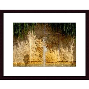 Printfinders Water, Rock and Rosemary by John K. Nakata Framed Photographic Print; Black