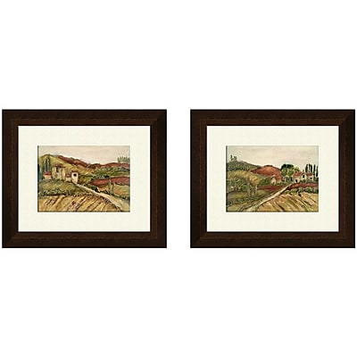 PTM Images Tuscany B 2 Piece Framed Painting Print Set