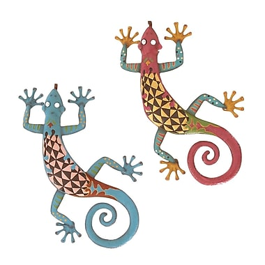 Woodland Imports Gecko Assorted Wall D cor (Set of 2)