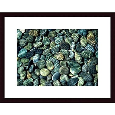 Printfinders Pebbles Abstract by John K. Nakata Framed Photographic Print; Black