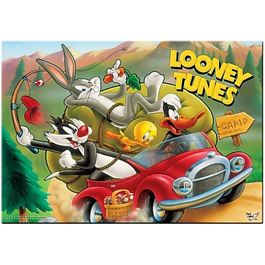 Trend Setters Looney Tunes (The Camping Trip) Vintage Advertisement Plaque
