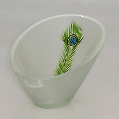 Womar Glass Peacock Series Candle Holder Vase