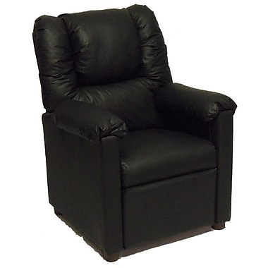 Brazil Furniture Lounger Children's Recliner; Vinyl Black